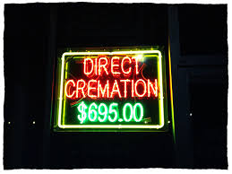 Distance from major city forces cremation prices Higher